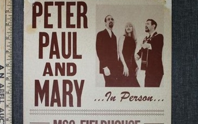 "Peter, Paul and Mary – MSC Fieldhouse (1963) 11"" x 14"""