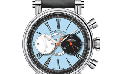SPEAKE MARIN LONDON CHRONOGRAPH ONLY WATCH EDITION This year Speake-Marin highlights the blue of Only Watch, allowing it to shine in this unique and charismatic piece: the London Chronograph Only Watch Edition.,