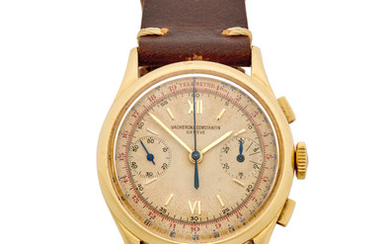 Vacheron & Constantin. A fine 18K gold chronograph wristwatch with tachymeter and telemeter scales