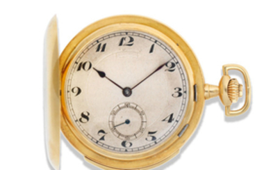 Vulcain. An 18K gold keyless wind minute repeating full hunter pocket watch