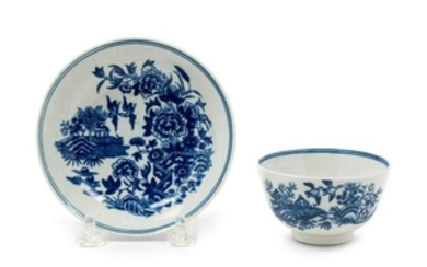 A Worcester Porcelain Cup and Saucer 18TH CENT