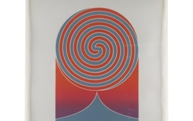EDNA ANDRADE (american, 1917–2008) SPIRAL Pencil signed and numbered...