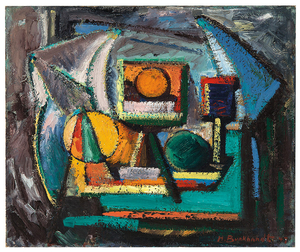 Hans Burkhardt - Hans Burkhardt: Abstract Still Life