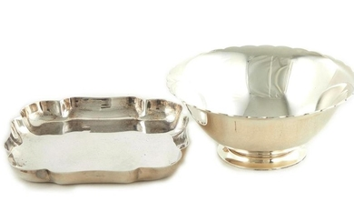 American silver dishes, Tiffany & Co (2pcs)