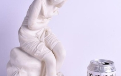 A 19TH CENTURY PARIAN WARE FIGURE OF A FEMALE possibly
