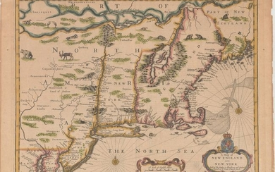 "Price reduced by $500! ""Speed"" Map of New England, ""A Map of New England and New York"", Speed/Lamb"