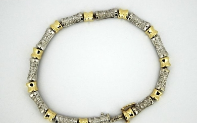 14 kt. White gold, Yellow gold - Bracelet - Diamonds
