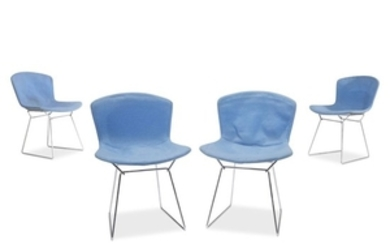 Harry Bertoia Four wire chairs, knoll international, circa 1960s...