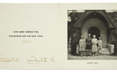 ROYAL FAMILY IN WARTIME GEORGE VI; AND...