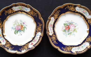 Two Russian Imperial Porcelain Factory Plates, Period of Alexander II (1818-1881)