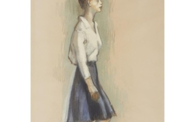 ISAAC SOYER (american, 1902-1981) WORKING LADY Signed bottom right,...