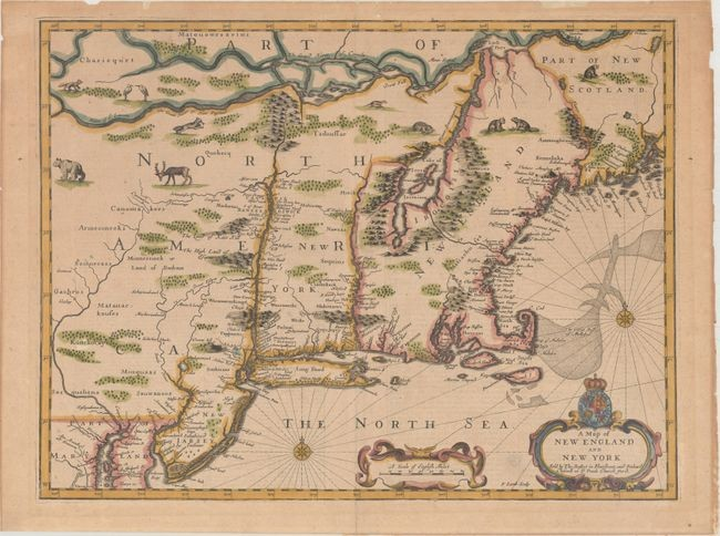 """Price reduced by $500! """"Speed"""" Map of New England, """"A Map of New England and New York"""", Speed/Lamb"""