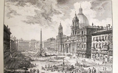 Piranesi, Giovanni: THE PIAZZA NAVONA, WITH S. AGNESE ON THE RIGHT, Year 1751.