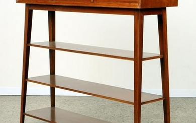 UNUSUAL MID CENTURY MODERN TALL CONSOLE TABLE