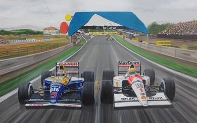 Andrew Kitson: Four Formula 1 paintings,