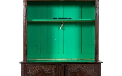 A French Provincial Oak Cabinet