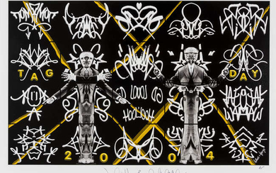 Gilbert and George (b.1943 & 1942) Tag Day