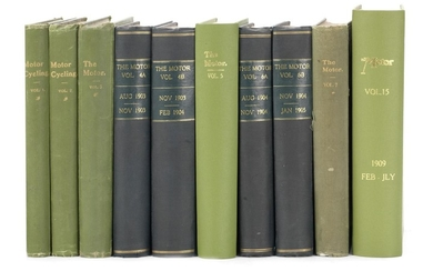 Motor Cycling and Motoring/The Motor: bound Volumes 1-7 (1902-1905) and Volume 15 (1909),