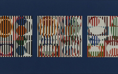 "Yaacov Agam ""5 Movement"" Silkscreen"