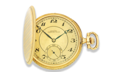 Zenith for Eberhard, Milan. An 18K two colour gold keyless wind full hunter pocket watch