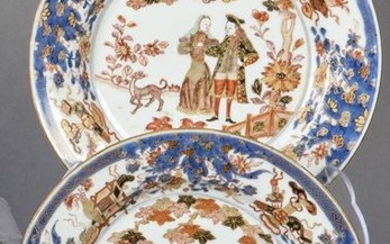 Pair of porcelain Imari plates from the Company of the