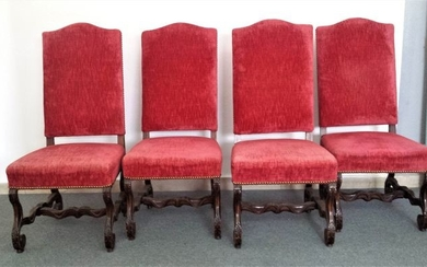 Chair (4) - Baroque style - Walnut - Late 19th century