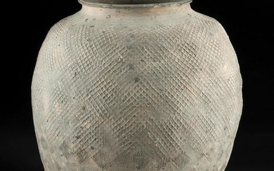 Large Chinese Warring States Pottery Storage Jar, TL'd