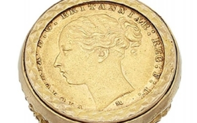 A 9ct gold mounted Victoria young head...