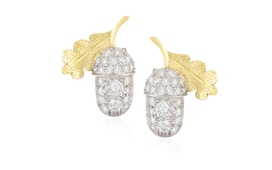 A PAIR OF DIAMOND EARRINGS...