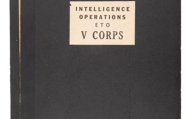 Intelligence Operations of the V Corps, WWII