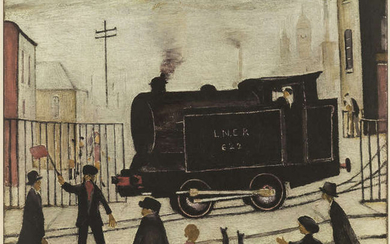 Laurence Stephen Lowry (1887-1976) The Level Crossing, Burton on Trent
