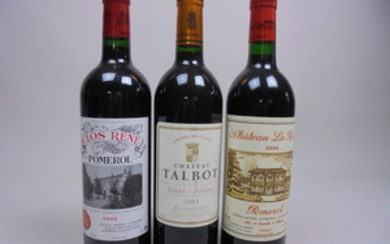 Mixed Lot Bordeaux 2000/2003/2005/2008