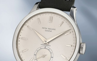 Patek Philippe, Ref. 570 A large, rare and well-preserved stainless steel wristwatch