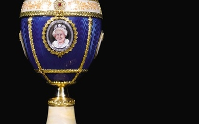 THE ROYAL EGG. A DIAMOND-SET GOLD AND ENAMEL PRESENTATION EGG IN THE MANNER OF FABERGÉ, JACK EDWARD PERRY, 2014