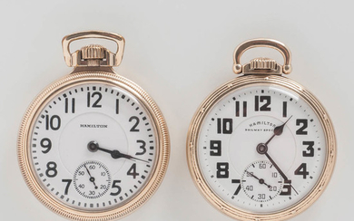 """Two Hamilton Watch Co. """"992B"""" Open-face Watches"""