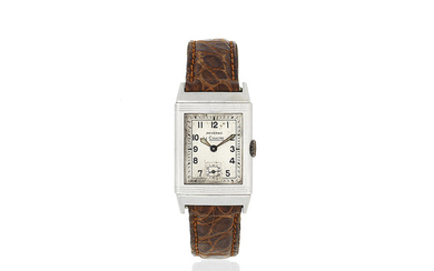 Jaeger-Lecoultre. A stainless steel manual wind reversible wristwatch