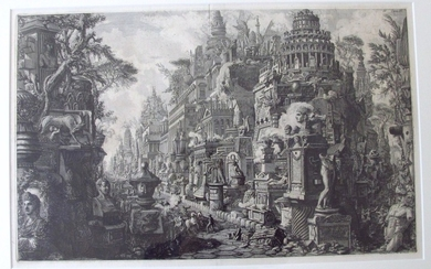 Piranesi, Giovanni: THE ANCIENT VIA APPIA, Year 1756