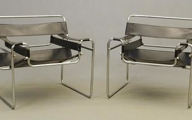 Pair Marcel Breuer Wassily Chairs