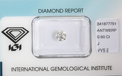Loose brilliant cut diamond 0.60ct