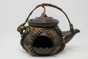 Inuit Carved Clay Lantern Teapot