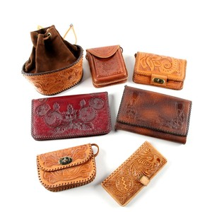 Vintage Hand Tooled Leather Bags
