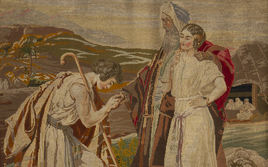 FRENCH SCHOOL, LATE 19TH CENTURY. Moses proposing marriage to Jethro's daughter.