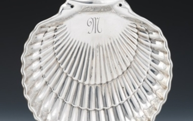 Gorham Sterling Silver Seashell Dish, dated 1964