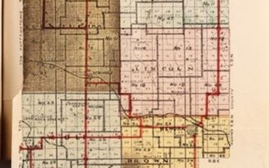 """""""Map of Seminole County Oklahoma [bound in] Moore's Seminole Roll and Land Guide"""""""