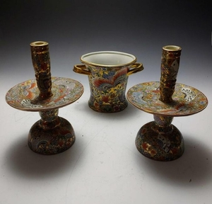 (3) Chinese Porcelain Butterfly Garniture Set