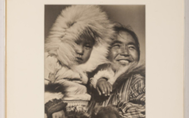 BOURKE-WHITE, MARGARET (1902-1971) [Keptanna with her baby Nalsuyals, Eskimos, Coppermine, Northwest Territories, Canada,