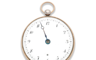 Breguet et Fils. A very fine and rare silver and gold open face key wind 'Souscription' pocket watch