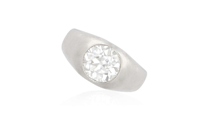 A DIAMOND SINGLE-STONE RING The...
