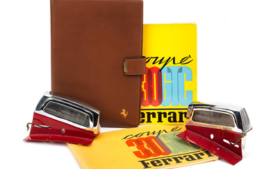 A Ferrari 330 GTC Coupe owner's manual and spare parts catalogue in reproduction wallet,