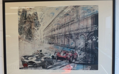 Francesco Scianna: Two original motor racing paintings,